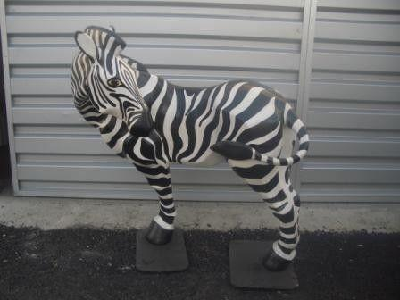 Dekorationsservice mieten & vermieten - Zebra Figur, Zebra, Savanne, Afrika, afrikanisch, Figur, Steppe, Tier, Dekoration, Zoo, Zirkus, Event, Messe in Lahnstein