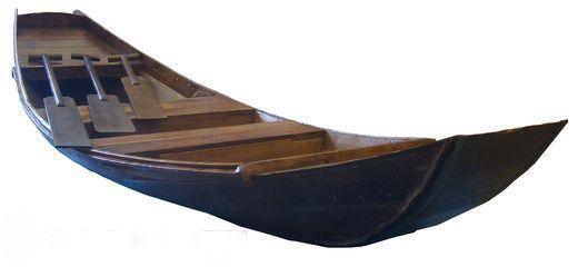 Dekorationsservice mieten & vermieten - Holzboot mit Paddel, Boot, Fischerboot, Holz, Paddel, Ruder, Fischer, Anglerboot, Ruderboot, Paddelboot, Event, Messe in Kamp-Bornhofen