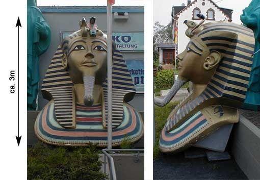 Dekorationsservice mieten & vermieten - Ägypten Tut Ench Amun Köpfe, Tut Ench Amun, Ägypten, Pharao, Pyramide, Sphinx, Pharao Kopf,  Event, Messe in Kamp-Bornhofen