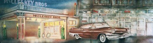Dekorationsservice mieten & vermieten - Amerika McCleskey Kulisse, Amerika, Kulisse, McCleskey, amerikanisch, USA, Auto, amerikanisches Auto, Oldtimer, Oldie in Lahnstein