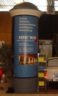 Dekorationsservice mieten & vermieten - Litfaßsäule, Säule, Reklame, Reklametafel, Litfaß, Werbung, Werbetafel, Dekoration, Event, Messe, Veranstaltung, leihen in Lahnstein