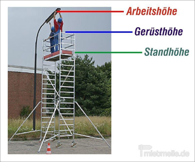 Gerüst mieten & vermieten - Rollgerüst ab 3,30 m bis 10,30 m in München
