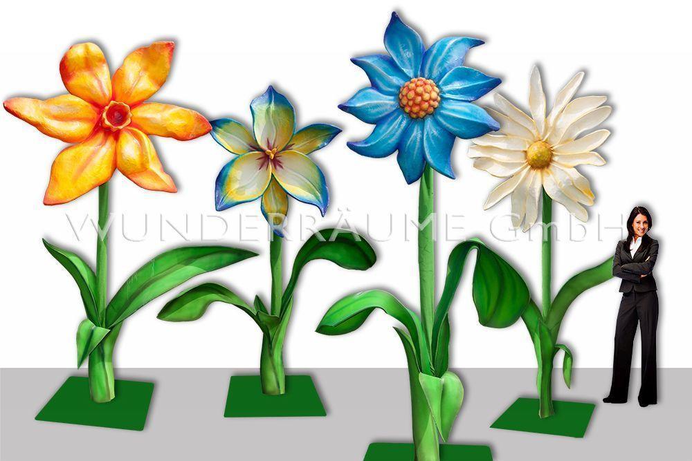 Pflanzen mieten & vermieten - 4 Riesenblumen bis 4m / SET 2 - WUNDERRÄUME GmbH vermietet: Dekoration/Kulisse für Event, Messe, Veranstaltung, Incentive, Mitarbeiterfest, Firmenjubiläum in Lichtenstein/Sachsen