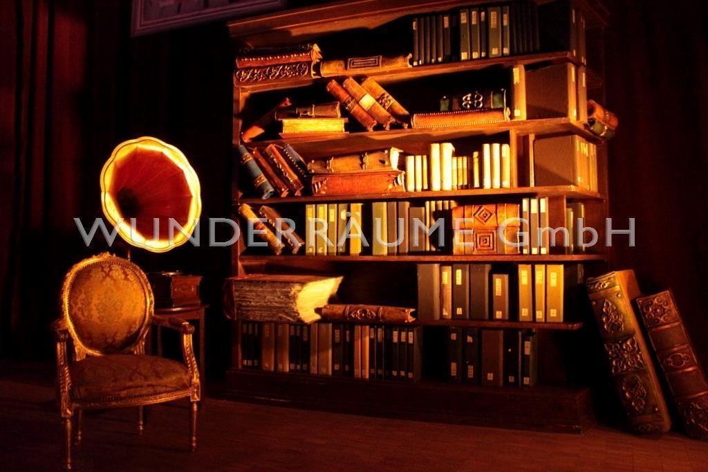 Kulissen mieten & vermieten - Bibliothek klein, Lesezimmer - WUNDERRÄUME GmbH vermietet: Dekoration/Kulisse für Event, Messe, Veranstaltung, Incentive, Mitarbeiterfest, Firmenjubiläum in Lichtenstein/Sachsen