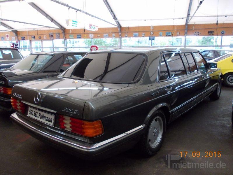 Limousinen mieten & vermieten - Mercedes 560 SEL Pullman (W 126) mit Chauffeur in Ansbach