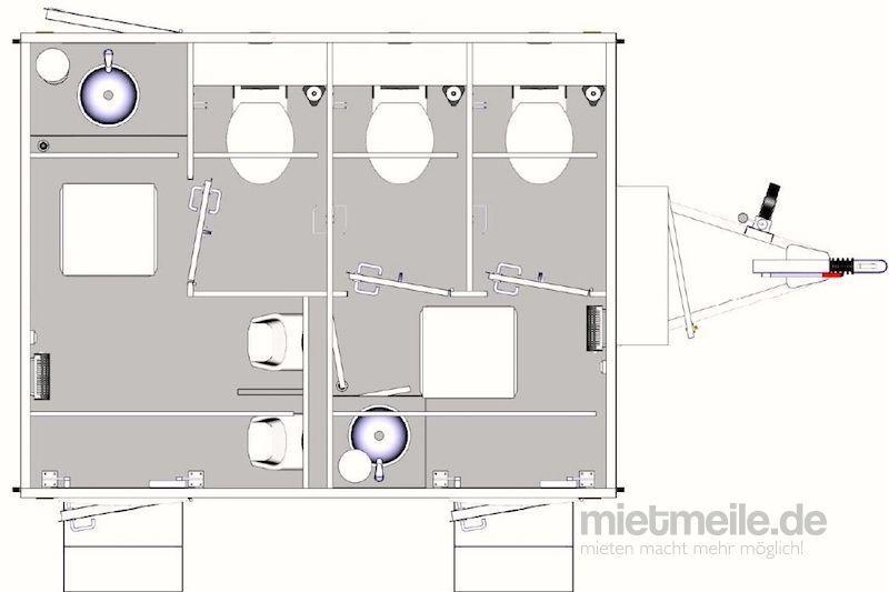 Toilettenwagen mieten & vermieten - Toilettenwagen Lplus / Miettoiletten in Lütjensee