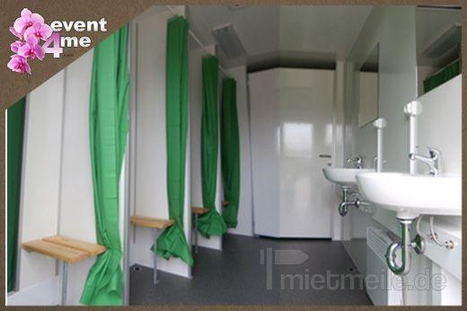 Duschcontainer mieten & vermieten - Duschanhänger mit 8 Duschen mieten in Mannheim