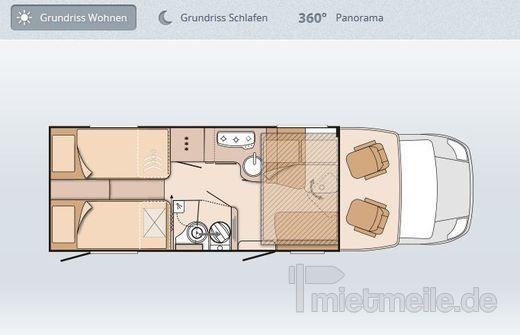 Wohnmobile mieten & vermieten - ADAC Wohnmobil Melody Class für 2 bis 4 Personen in Berlin