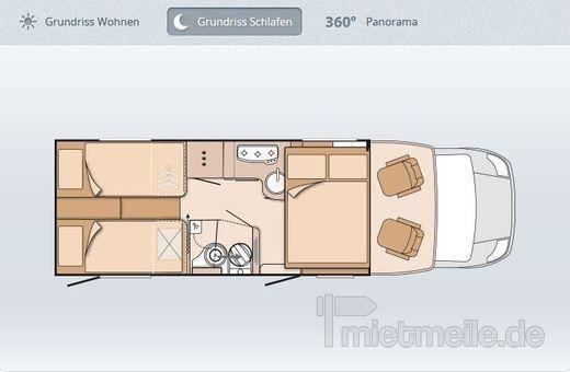 adac wohnmobil sky wave 700 meg exklusiv mieten. Black Bedroom Furniture Sets. Home Design Ideas