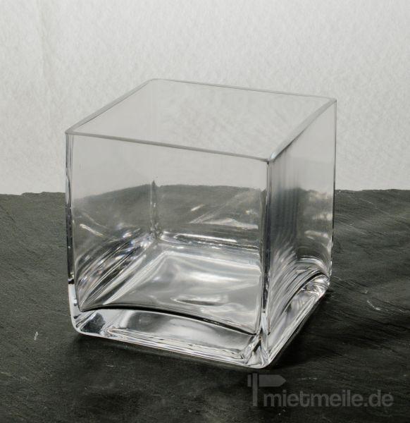 Tischdekoration mieten & vermieten - Windlicht Glas Breite 10cm Tiefe 10cm Höhe 10cm in Rosenheim