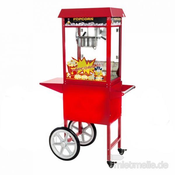 Popcornmaschine mieten & vermieten - Popcornmaschine mit Wagen B:94cm T:37cm H:157cm in Rosenheim