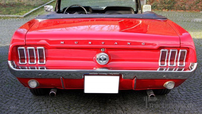 Oldtimer mieten & vermieten - Mustang GT Cabrio Baujahr 1967 ***V8 Motor*** in Marl