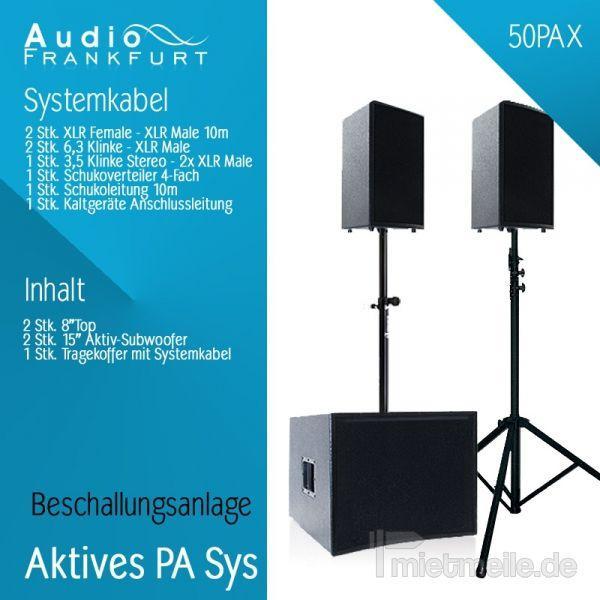 Tontechnik mieten & vermieten - Partyanlagen Musikanlagen Beschallungsanlagen in Frankfurt am Main