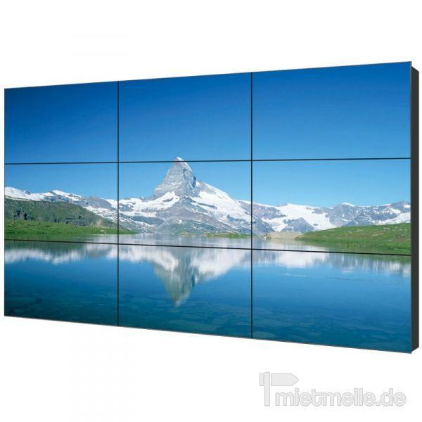 """LCD Monitore mieten & vermieten - Samsung 46"""" steglos Display-Wall 3x3 Videowall in Berg bei Neumarkt in der Oberpfalz"""
