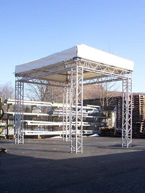 Bühne mieten & vermieten - Bühne mit Dach Traversensystem 3x4m - festen Ecken in Reinstädt