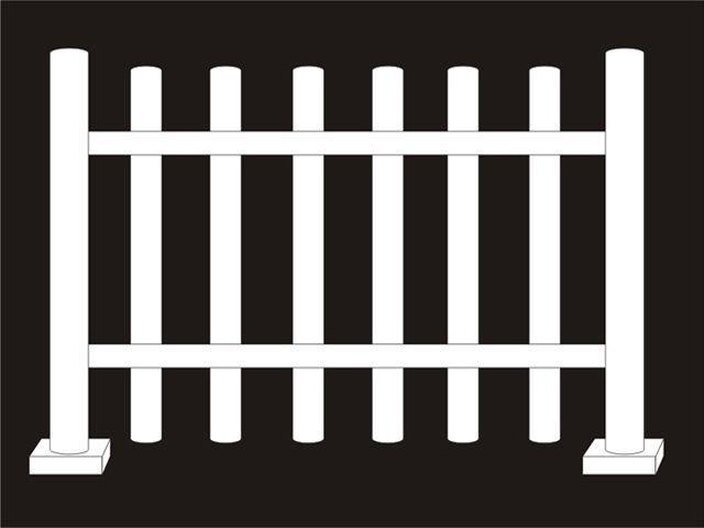 Kulissen mieten & vermieten - Zaun zur Dekoration in weiß in Reinstädt