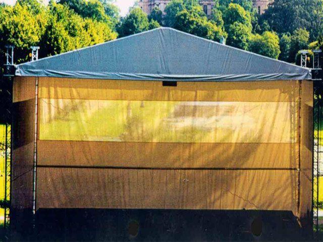 Traversen mieten & vermieten - Überdachung Traversengerüst, Traversendach 8 x 12m in Reinstädt