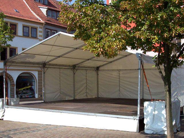 Bühne mieten & vermieten - Bühne mit Zeltüberdachung 6 x 9 m in Reinstädt