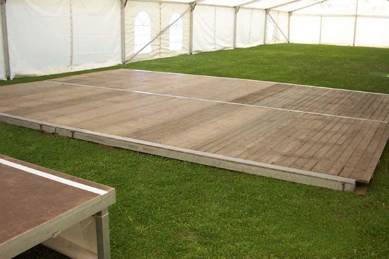 Tanzboden mieten & vermieten - Holzboden/Tanzfläche - bis 75m² als 5,0m Raster in Reinstädt