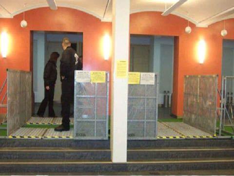 Absperrung mieten & vermieten - Absperrgitter - Eingangsschleuse in Reinstädt
