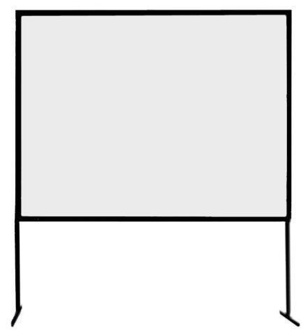 Beamer mieten & vermieten - Rückprojektionstuch 2,80 x 2,10 m in Reinstädt