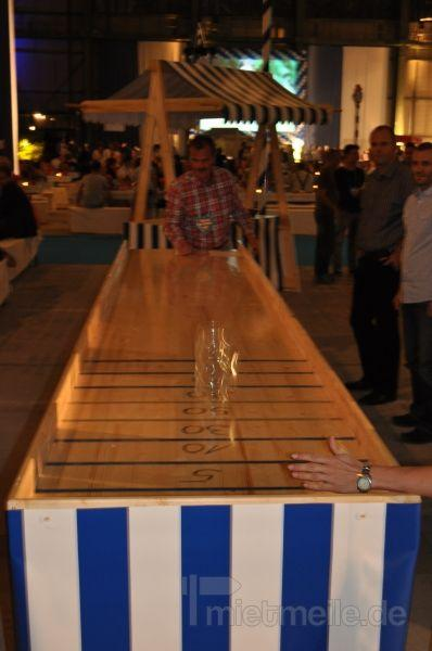 Gewinnspiele mieten & vermieten - Maßkrugschieben - Bierkrugschieben mieten in Schwerin
