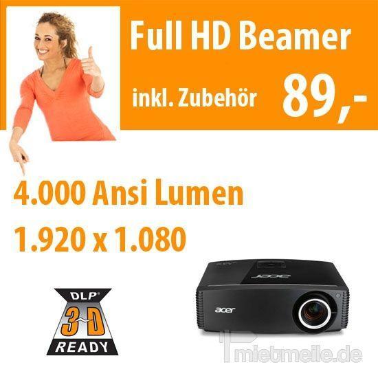 Beamer mieten & vermieten - 4.000 Ansi Full HD Beamer in Dresden