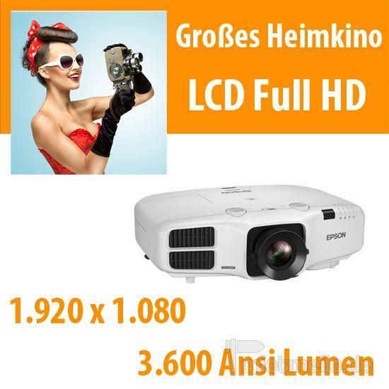 Beamer mieten & vermieten - 3.600 Ansi LCD Full HD Beamer in Dresden