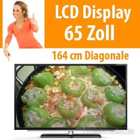 "LCD Monitore mieten & vermieten - 65"" LCD Display Fernseher TV Monitor  in Dresden"
