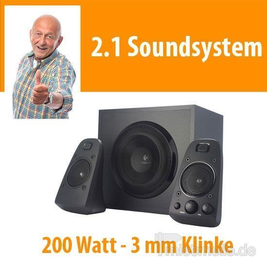 Lautsprecherverleih mieten & vermieten - 2.1 Soundsystem Lautsprecher 200 Watt Musik Anlage in Dresden