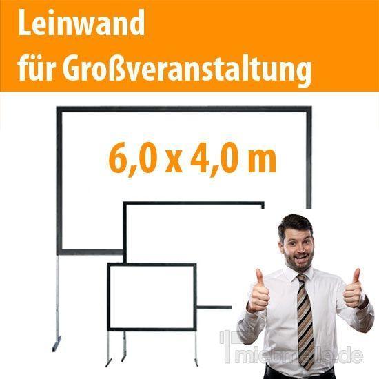 Leinwand mieten & vermieten - Beamer Leinwand 6,00 x 4,00 m Aufprojektion in Dresden