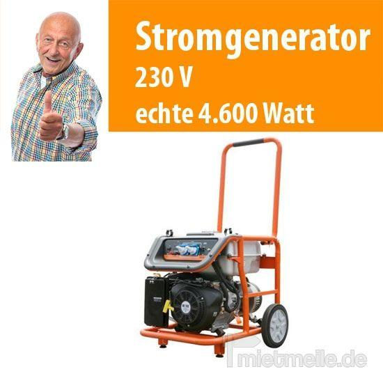 Stromgenerator mieten & vermieten - 380 V - 3.000 / 230 V bis 5.400 W Stromaggregat in Dresden