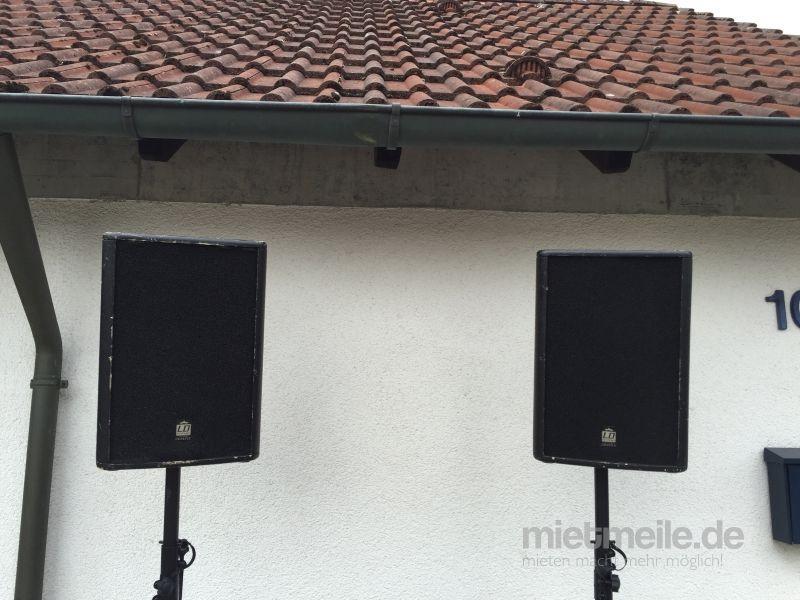 Tontechnik mieten & vermieten - Professionelle Musikanlage für Ihre Veranstaltung in Neu-Ulm