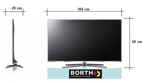 "LCD Monitore mieten & vermieten - Monitor Samsung 46"" Zoll Model 8090 in Ratingen"