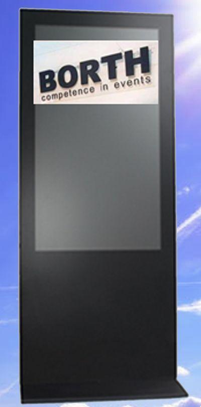 """Terminalsysteme mieten & vermieten - Info Terminal Touch 55"""" mit Touch in Ratingen"""