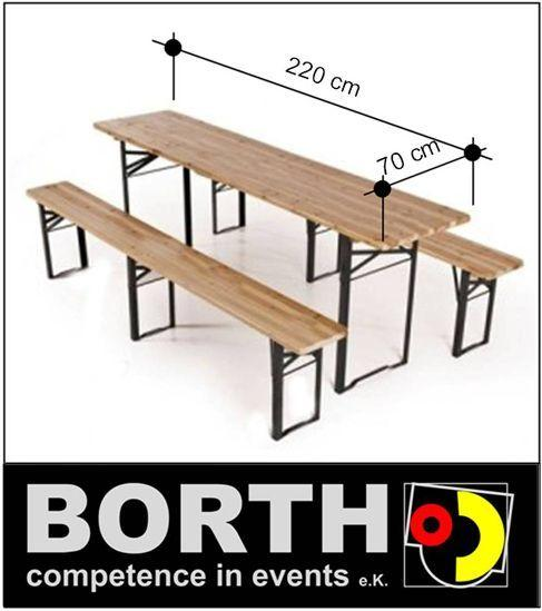 Bierzeltgarnitur mieten & vermieten - Una mesa y dos bancos para una fiesta in Ratingen
