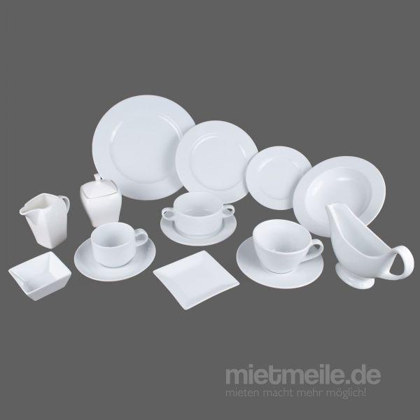 Teller & Tassen mieten & vermieten - Geschirr mieten in Rosenheim