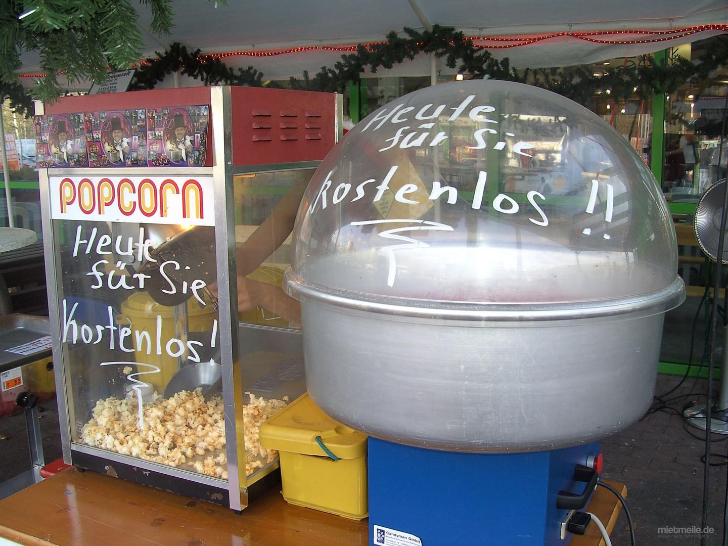 Popcornmaschine mieten & vermieten - Popcorn mit Candyman in Püttlingen