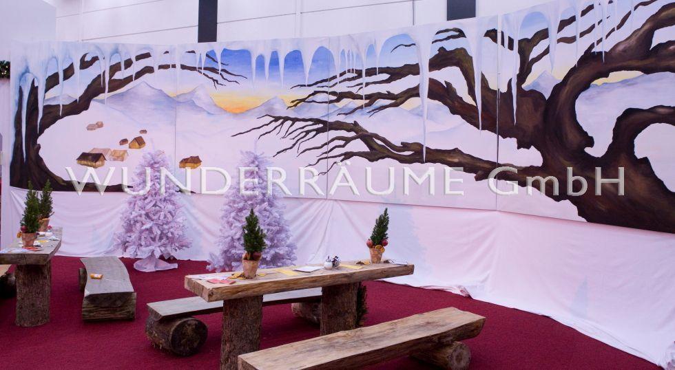 Saisonale Dekoration mieten & vermieten - Größter dt. Winter & Weihnachtsfundus XXL, WUNDERRÄUME GmbH vermietet: Dekoration / Kulisse für Event, Messe, Veranstaltung, Incentive, Mitarbeiterfest, Firmenjubiläum in Lichtenstein/Sachsen