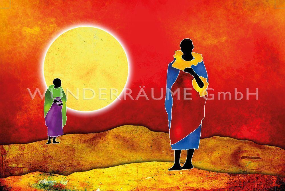 """Kulissen mieten & vermieten - Leinwanddruck """"Sonne Afrika"""" in Lichtenstein/Sachsen"""