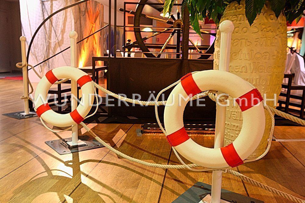 Maritime Deko & Schiffsmodelle mieten & vermieten - Reling - WUNDERRÄUME GmbH vermietet: Dekoration/Kulisse für Event, Messe, Veranstaltung, Incentive, Mitarbeiterfest, Firmenjubiläum in Lichtenstein/Sachsen