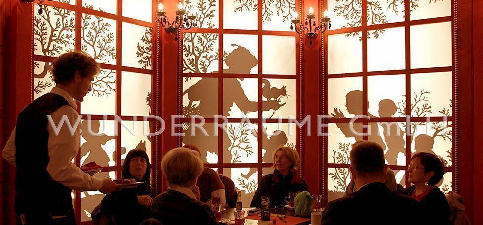 Weihnachtsdekoration mieten & vermieten - Restaurant Nostalgie/Scherenschnitt - -WUNDERRÄUME GmbH vermietet: Dekoration/Kulisse für Event, Messe, Veranstaltung, Incentive, Mitarbeiterfest, Firmenjubiläum in Lichtenstein/Sachsen