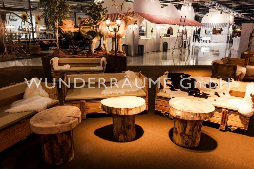 Tische mieten & vermieten - Loungetisch rustikal, mit Baumscheibe in Lichtenstein/Sachsen