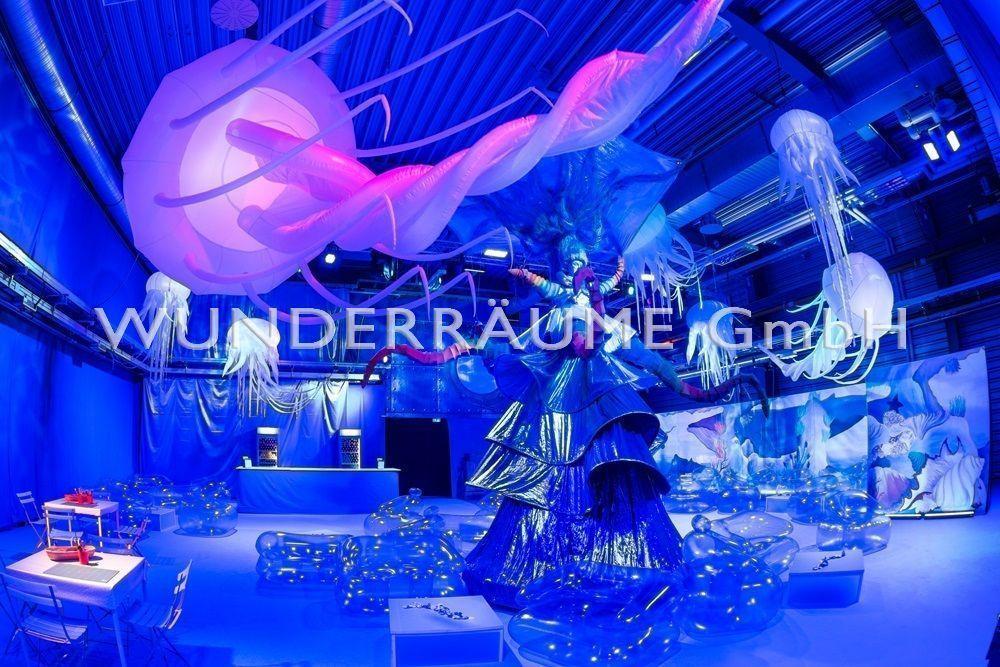 Aufblasbare Dekoration mieten & vermieten - Quallen - WUNDERRÄUME GmbH vermietet: Dekoration/Kulisse für Event, Messe, Veranstaltung, Incentive, Mitarbeiterfest, Firmenjubiläum in Lichtenstein/Sachsen