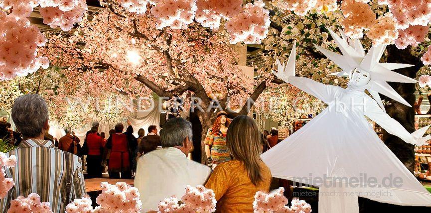 Saisonale Dekoration mieten & vermieten - Kirschblüten-Baum XL, rosa - WUNDERRÄUME GmbH vermietet: Dekoration/Kulisse für Event, Messe, Veranstaltung, Incentive, Mitarbeiterfest, Firmenjubiläum in Lichtenstein/Sachsen