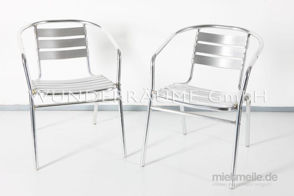 Stühle mieten & vermieten - Aluminium Stuhl - WUNDERRÄUME GmbH vermietet: Dekoration/Kulisse für Event, Messe, Veranstaltung, Incentive, Mitarbeiterfest, Firmenjubiläum in Lichtenstein/Sachsen