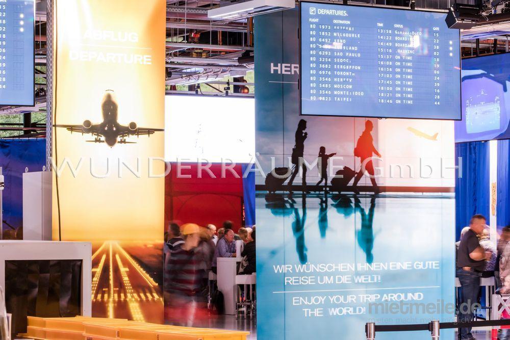 Kulissen mieten & vermieten - Banner Flughafen - WUNDERRÄUME GmbH vermietet: Dekoration/Kulisse für Event, Messe, Veranstaltung, Incentive, Mitarbeiterfest, Firmenjubiläum in Lichtenstein/Sachsen