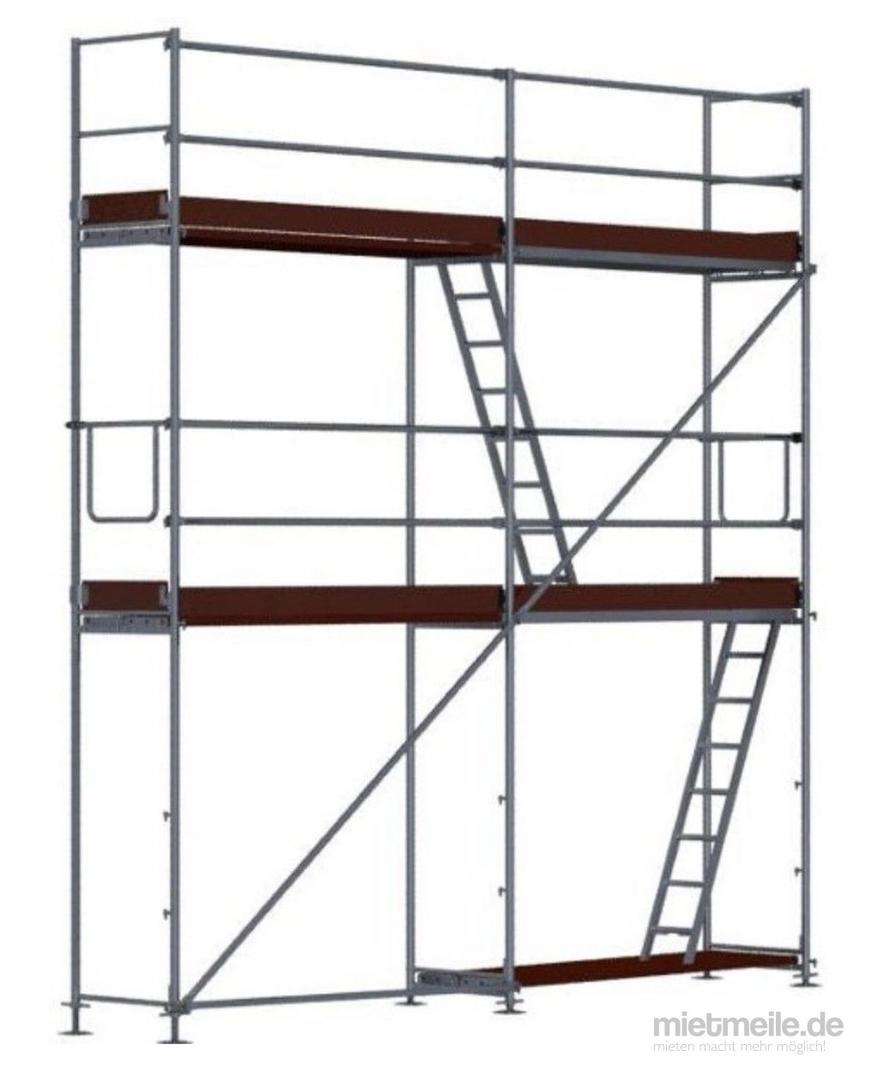 Gerüst mieten & vermieten - Fassadengerüst 12m Breit, Arbeitshöhe 6,30m in Velbert