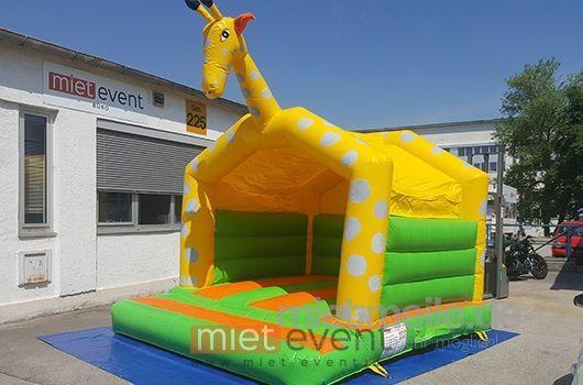 Hüpfburg mieten & vermieten - Giraffen Hüpfburg mit Dach mieten in München