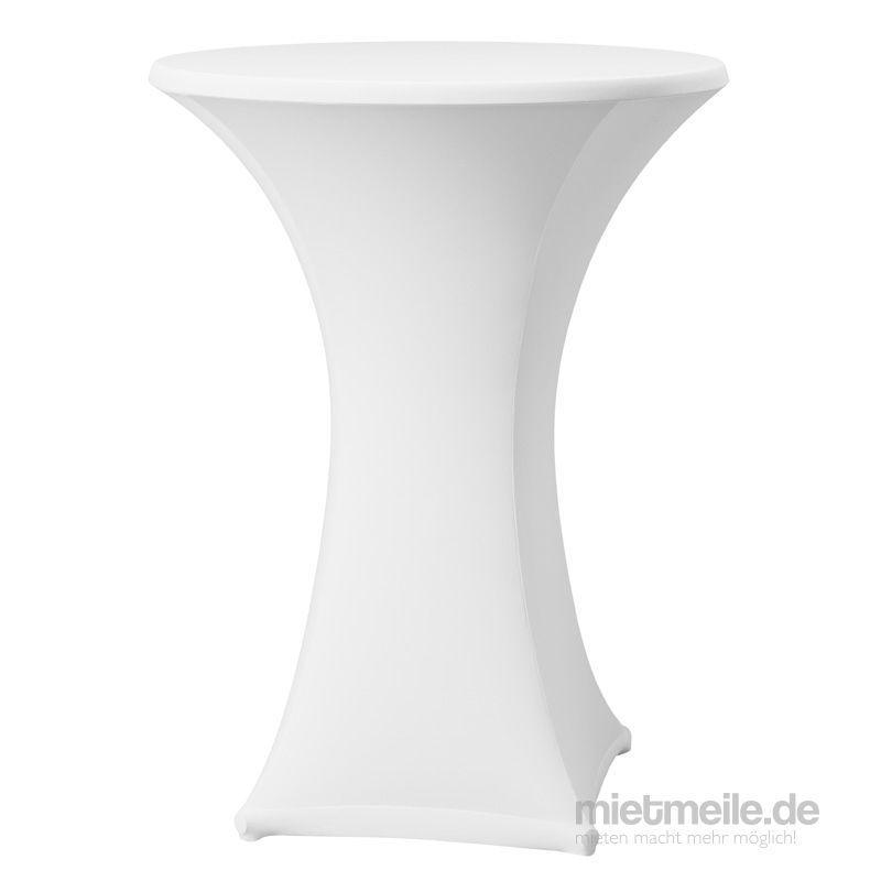 Stehtischhussen mieten & vermieten - Stehtischusse - Stretch Hussen - Stehtischhussen - Weiß in Wismar